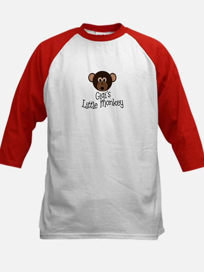Gigi's Little Monkey Boy Kids Baseball Jersey
