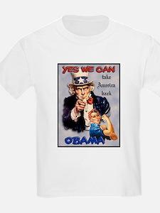 Uncle Sam Rosie Riveter for Obama T-Shirt