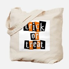 Trick or Treat Black & Orange Tote Bag