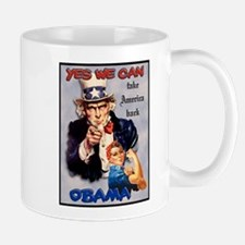 Uncle Sam Rosie Riveter for Obama Mug