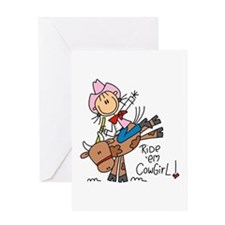 Ride Em Cowgirl Greeting Card