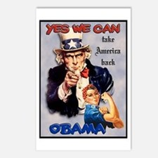 Uncle Sam Rosie Riveter for Obama Postcards (Packa