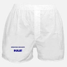 Operations Geologists Rule! Boxer Shorts