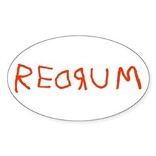 Redrum Oval Decal