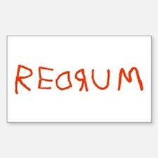 Redrum Rectangle Decal