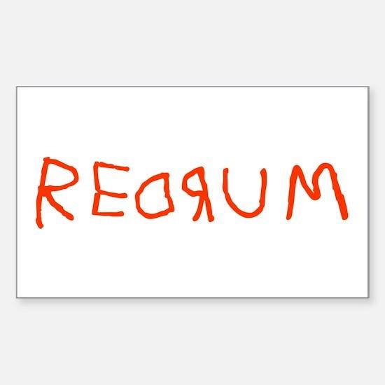 Redrum Rectangle Decal