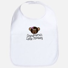 Grandmama's Little Monkey Girl Bib