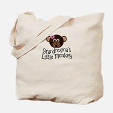 Grandmama's Little Monkey Girl Tote Bag
