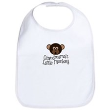 Grandmama's Little Monkey Boy Bib