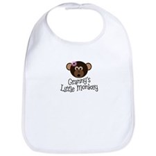 Granny's Little Monkey Girl Bib