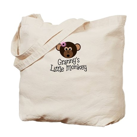Granny's Little Monkey Girl Tote Bag
