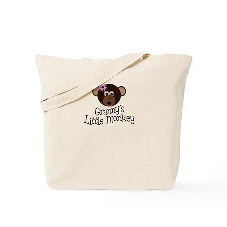 Granny's Little Monkey Girl Tote Bag