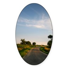 Country Road Oval Decal