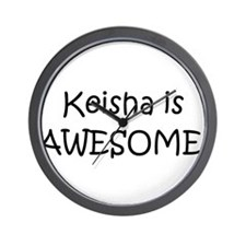 Cute I love keisha Wall Clock