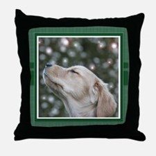 Golden Christmas Wishes Throw Pillow