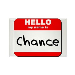 Hello my name is Chance Rectangle Magnet (10 pack)