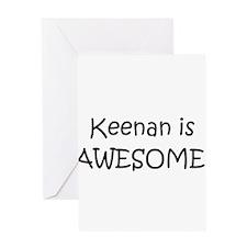 Cool Keenan Greeting Card
