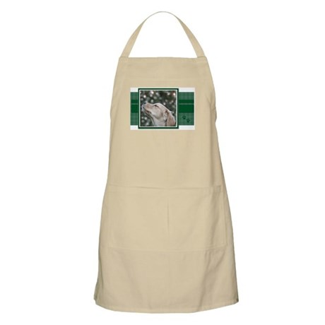 Golden Christmas Wishes BBQ Apron