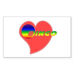 Heart Bingo Rectangle Sticker 10 pk)