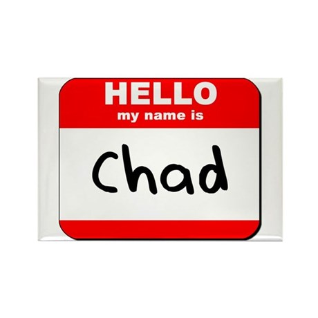 Hello my name is Chad Rectangle Magnet