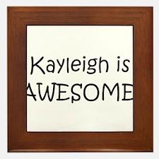 Funny Kayleigh Framed Tile