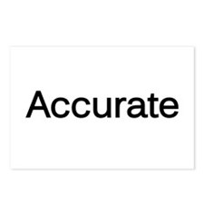 """""""Accurate"""" Postcards (Package of 8)"""