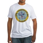 USS CONSTELLATION Fitted T-Shirt