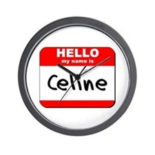 Hello my name is Celine Wall Clock