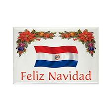 Paraguay Feliz Navidad Rectangle Magnet
