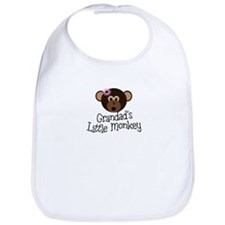 Grandad's Little Monkey Girl Bib