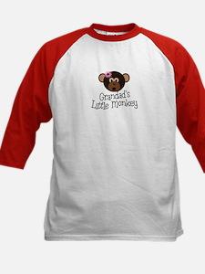 Grandad's Little Monkey Girl Kids Baseball Jersey