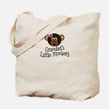 Grandad's Little Monkey Girl Tote Bag