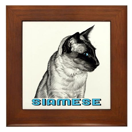 Siamese Sketch Framed Tile