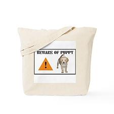 Beware of Puppy Tote Bag