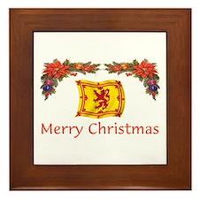 Scottish Merry Christmas 2 Framed Tile