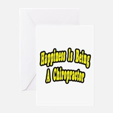 """""""Happiness...Chiropractor"""" Greeting Card"""