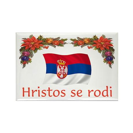 Serbia Hristos...2 Rectangle Magnet