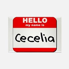 Hello my name is Cecelia Rectangle Magnet