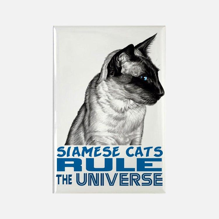 Siamese Universe Rectangle Magnet