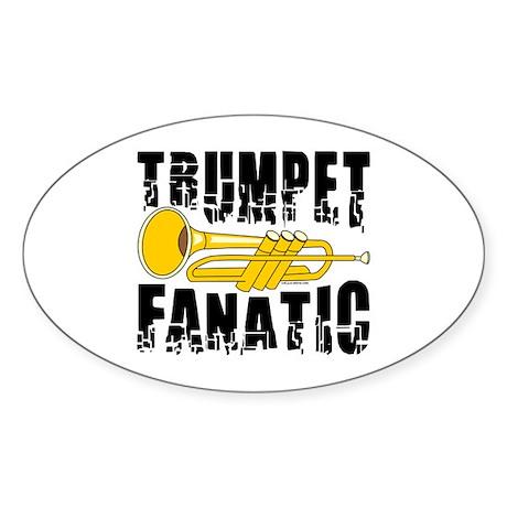 Trumpet Fanatic Oval Sticker