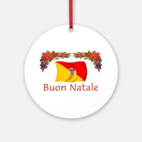 Sicily Buon Natale Ornament (Round)