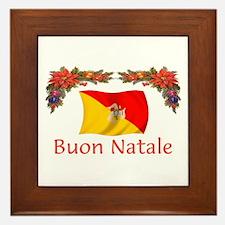Sicily Buon Natale Framed Tile