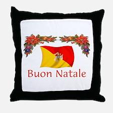 Sicily Buon Natale Throw Pillow