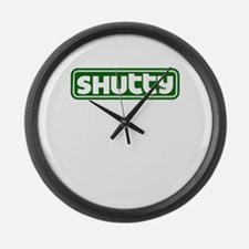 Shutty Large Wall Clock