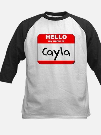 Hello my name is Cayla Kids Baseball Jersey