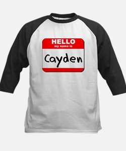 Hello my name is Cayden Kids Baseball Jersey
