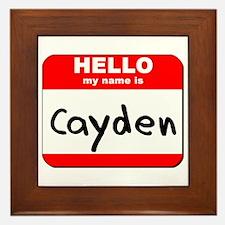 Hello my name is Cayden Framed Tile