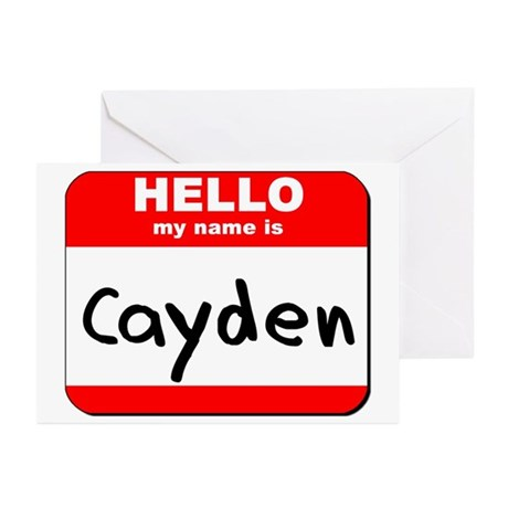 Hello my name is Cayden Greeting Cards (Pk of 20)