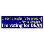 I'm Voting for Dean (bumper sticker)