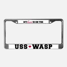 USS Wasp (Heart) License Plate Frame